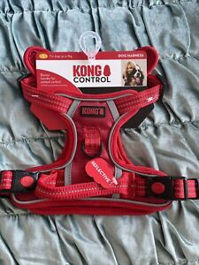 Red KONG CONTROL Dog Harness With Reflective Stitching SIZE Small S Up To 9kg