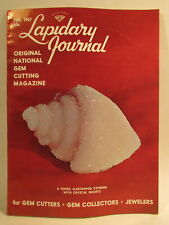 Lapidary Journal Magazine 1967 February Fossil Gastropod Covered with Crystal...