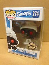 FUNKO POP! The Smurfs GNAP! figura de vinilo negro Pitufo #274 exclusivo * Nuevo *