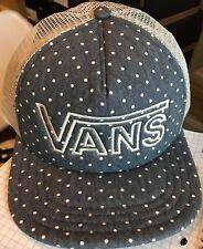 53151d142ef VANS Women s Drop V TRUCKER Snapback HAT Polka Dot OS  20