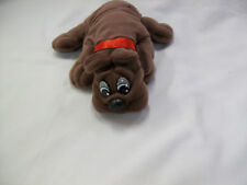 TONKA COLLECTIBLE POUND PUPPY BROWN RUMPLE SKINS RED COLLAR NEW
