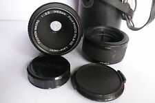 Fuji Fujinon EBC Macro 55mm f3.5 M42 Screw mt Lens w 1:1 Extension tube Cap Case