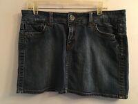 Marlow Sz M/L ? Stretch Distressed solid blueDenim Mini Skirt - See Measurements