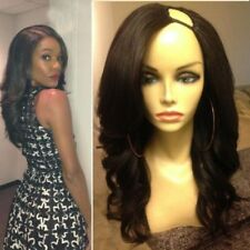 Virgin Peruvian Remy Hair U Part Human Hair Wig Wavy Glueless Upart Wig 18""
