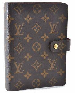 Authentic Louis Vuitton Monogram Agenda MM Day Planner Cover R20004 LV D9243