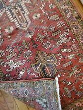 New listing 4 x 10.5 Antique Fine Caucasian Heriz Rug Vintage Serapi Kazak Oushak Shirvan