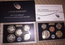 2017-S 225th Anniversary Enhanced Uncirculated Coin Set Box OGP & COA IN STOCK