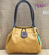SENAPE donna in finta pelle Big Button Fashion Shoulder Bag Borsa