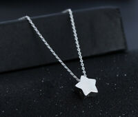 Women's  925 Silver Lovely Little Star Pendant Charm Chain Necklace Jewelry Gift