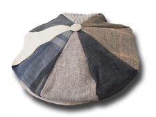 Berretto irlandese a 8 spicchi Hanna Hats Gatsby patchwork lino