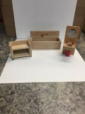 3 Piece Dollhouse Furniture Plan Toys Compatible Wooden (1M)