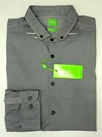 NWT $145 Hugo Boss Gray Shirt LS Mens M L XL C-Bilia 50330826 410 Slim Fit