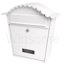Classic Galvanised Steel Letter Mail Post Box Outdoor Wall Mounted Lockable