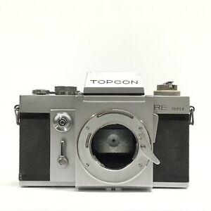 Topcon RE Super SLR Film Camera Body Only GOOD TK04V