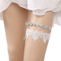 Women Rhinestone Lace Leg Wedding Garter Thigh Ring Belt Bridal Accessories P