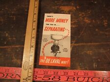Vintage Delaval Separator or milker advertising Junior More money cow flyer