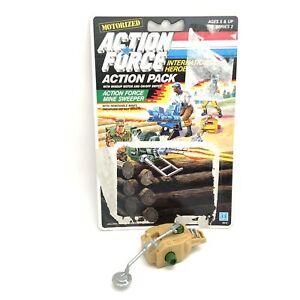 Vintage 1980's Hasbro GI Joe Action Force Figure Mine Sweeper Pack + Card Back