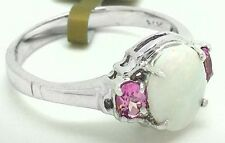 Genuine OPAL & PINK SAPPHIRE RING 14k Gold  *FREE  APPRAISAL ** New With Tag **