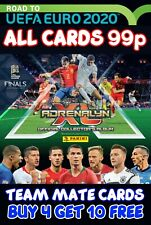 PANINI ADRENALYN XL ROAD TO EURO 2020 TEAM MATE CARDS BUY 4 GET 10 FREE ALL 99p