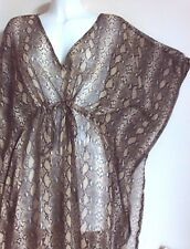 NEW ANIMAL KAFTAN TUNIC DRESSES BLOUSE CHIFFON HOLIDAY PIJAMA COVER UP BELT TOPS