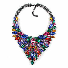 Multi color Statement Detailed Fashion Collar Party Necklace Jewellery for Women