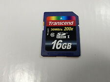 Genuine OEM Transcend 16GB SDHC I Memory Card - Class 10 - 30 MB/s 200x
