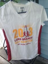 LADIES 2013 HALF MARATHON JOGGING SHIRT LONG BRANCH NJ RUN RESTORE SHORE- NEW