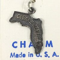 Vintage Clearwater Beach Sterling Silver Charm Original Retail Card
