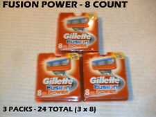 Gillette Fusion Power -  24 Count (3 x 8 Packs)