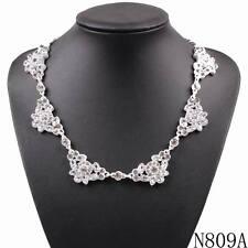 New fashion necklace vintage costume choker bib collar statement crystal pendant