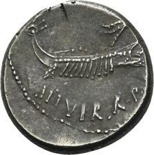 LANZ Römische Republik Denar 32/31 v.Chr. Marc Antonius Legion XIII #QW7063