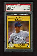 1991  FLEER BOX PANELS # 3  NOLAN RYAN   PSA  7