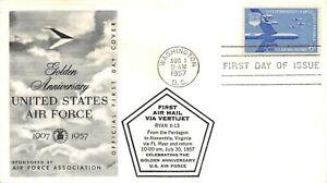 "C49 6c Air Force, Fleetwood cachet variety w/""Pentagon"" overprint [022421.1059]"