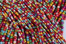 6mm Strand Faux Turquoise Beads Round Small Spacer Stone  Mixed colors 50pc