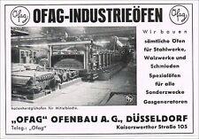 OFAG Ofenbau AG Düsseldorf histor. Aktie 1943 LOI thermprocess Essen Tenova NRW