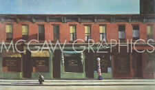 "HOPPER EDWARD - EARLY SUNDAY MORNING, 1930 - ART PRINT POSTER 11"" X 14"" (1088)"