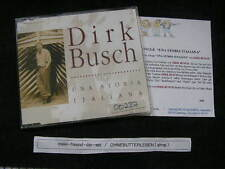 CD schlager Dirk Busch-una storia Italiana (3 chanson) MCD signifiant + press kit