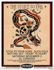THE STORY SO FAR /STICK TO YOUR GUNS /SUCH GOLD 2013 SEATTLE CONCERT TOUR POSTER