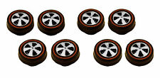8 Brightvision Redline Wheels – 8 Small US Dull Chrome Bearing Style Wheels