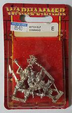 GW Warhammer Dark Elf Witch Elf Command 8540 2000 (3 models) - METAL OOP MIB