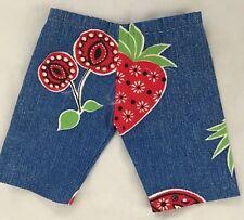 "Denim Pink Print 6X6.5"" (Laying Flat) Pants Doll Clothes"