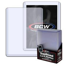 10 BCW 2.75MM 108PT THICK MEMORABILIA TRADING CARD TOPLOAD HOLDERS PROTECTORS