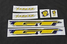 GT DECALS ZASKAR YELLOW MOUNTAIN BIKE STICKERS NOS
