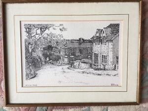Beck Hill Tealby Vintage Original Artist Martin Harrison Signed Pen/Ink Picture