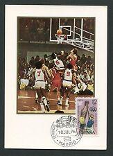 SPAIN MK 1976 OLYMPIA BASKETBALL OLYMPICS MAXIMUMKARTE MAXIMUM CARD MC CM c8790