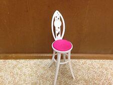 Barbie Doll Glam Vacation House Modern Chair High Bar Stool Kitchen Furniture