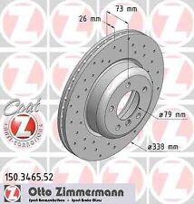 Disque de frein avant ZIMMERMANN PERCE 150.3465.52 BMW 3 E90 325d 197 204ch