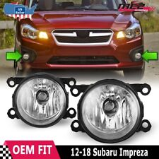 Fits 12-18 Subaru Impreza PAIR Factory Bumper Replacement Fog Lights Clear Lens