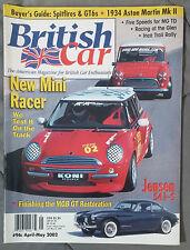 BRITISH CAR MAGAZINE 2002 #96 APRIL MAY MINI COOPER S JENSEN 541-S MGB GT GT6 MG