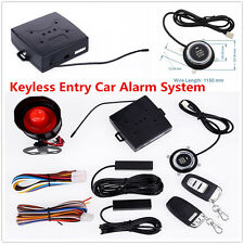 Car Alarm System With Passive Keyless Entry Remote Engine Start Push Button Star